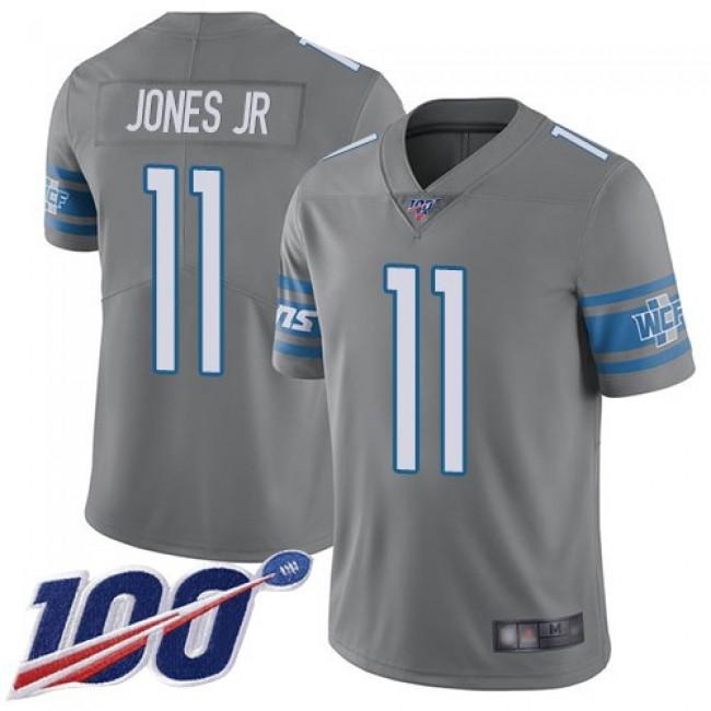Nike Lions #11 Marvin Jones Jr Gray Men's Stitched NFL Limited Rush 100th Season Jersey