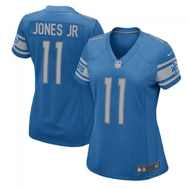 Women's Lions #11 Marvin Jones Jr Light Blue Team Color Stitched NFL Elite Jersey