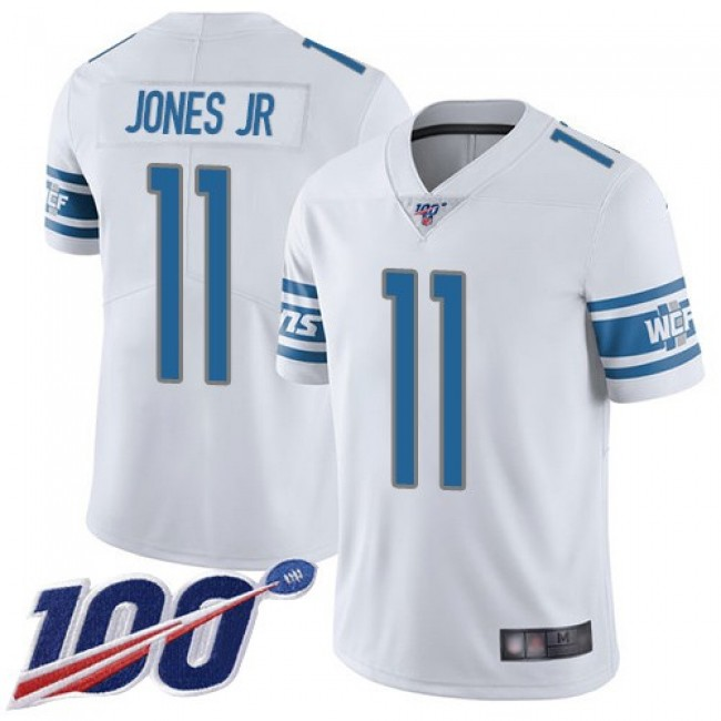 Nike Lions #11 Marvin Jones Jr White Men's Stitched NFL 100th Season Vapor Limited Jersey