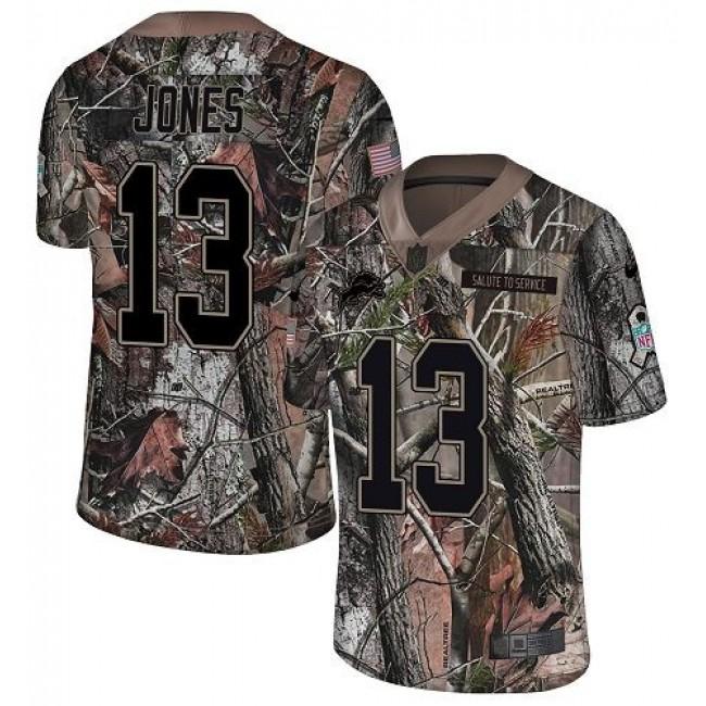 Nike Lions #13 T.J. Jones Camo Men's Stitched NFL Limited Rush Realtree Jersey