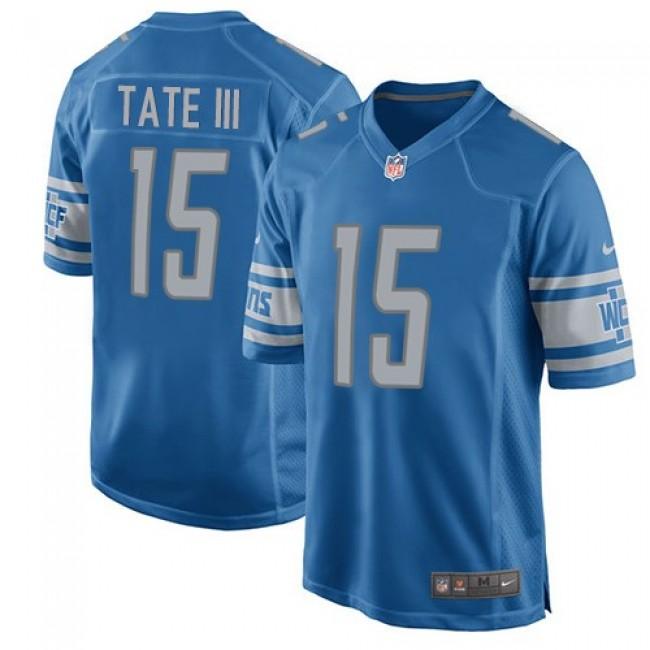 Detroit Lions #15 Golden Tate III Light Blue Team Color Youth Stitched NFL Elite Jersey