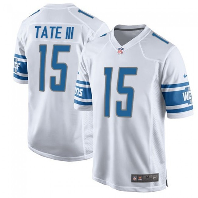 Detroit Lions #15 Golden Tate III White Youth Stitched NFL Elite Jersey