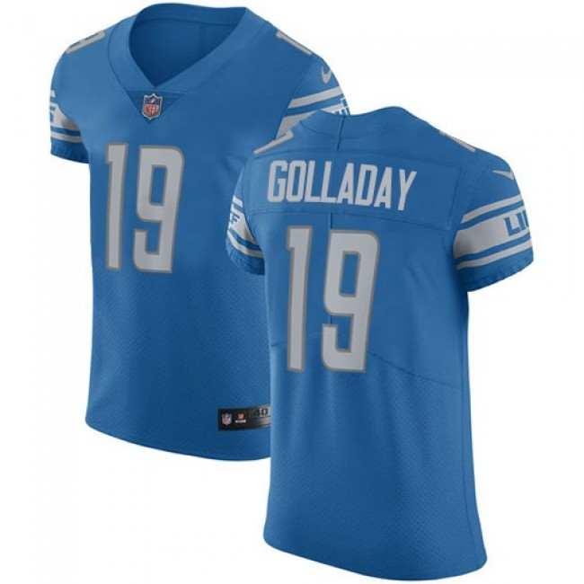 Nike Lions #19 Kenny Golladay Blue Team Color Men's Stitched NFL Vapor Untouchable Elite Jersey