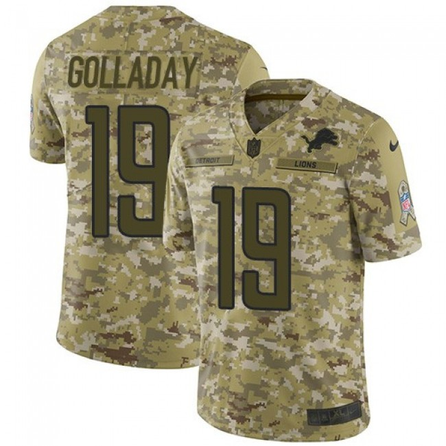 Nike Lions #19 Kenny Golladay Camo Men's Stitched NFL Limited 2018 Salute To Service Jersey