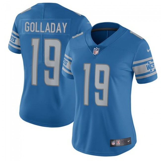Women's Lions #19 Kenny Golladay Light Blue Team Color Stitched NFL Vapor Untouchable Limited Jersey