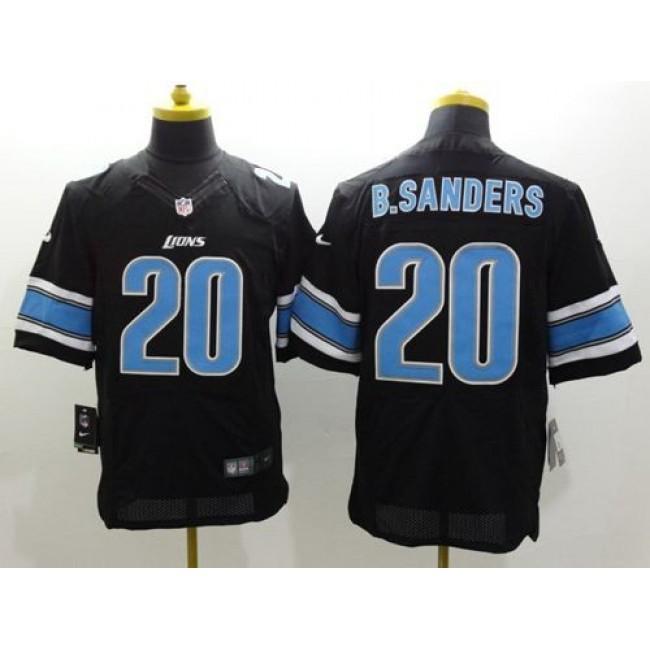 Nike Lions #20 Barry Sanders Black Alternate Men's Stitched NFL Elite Jersey