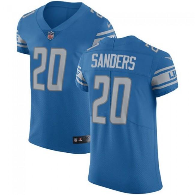 Nike Lions #20 Barry Sanders Blue Team Color Men's Stitched NFL Vapor Untouchable Elite Jersey