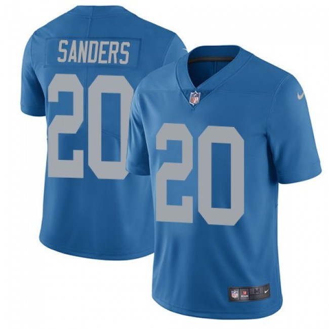 Detroit Lions #20 Barry Sanders Blue Throwback Youth Stitched NFL Vapor Untouchable Limited Jersey