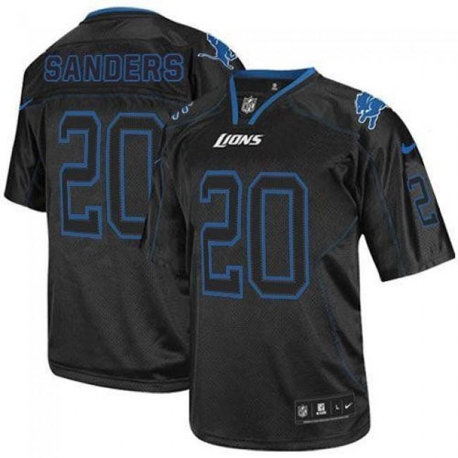 Nike Lions #20 Barry Sanders Lights Out Black Men's Stitched NFL Elite Jersey