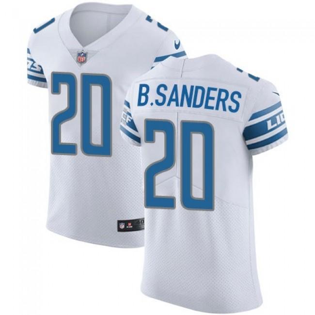 Nike Lions #20 Barry Sanders White Men's Stitched NFL Vapor Untouchable Elite Jersey