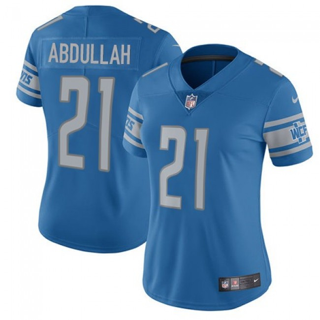 Women's Lions #21 Ameer Abdullah Light Blue Team Color Stitched NFL Vapor Untouchable Limited Jersey