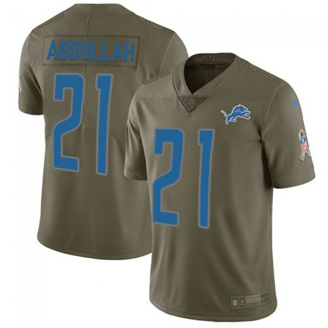 Detroit Lions #21 Ameer Abdullah Olive Youth Stitched NFL Limited 2017 Salute to Service Jersey