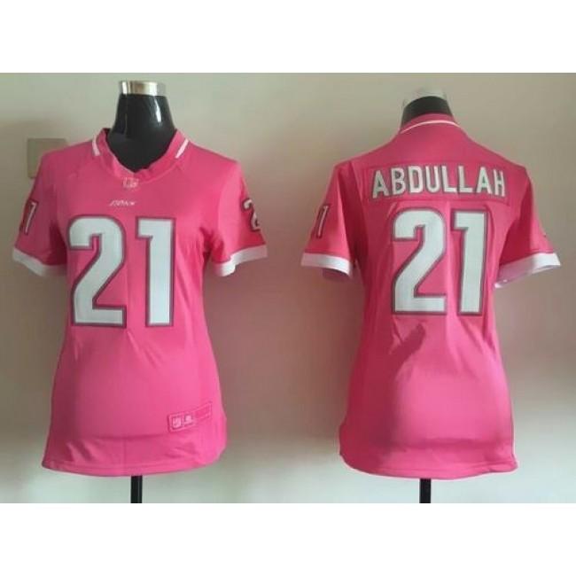 Women's Lions #21 Ameer Abdullah Pink Stitched NFL Elite Bubble Gum Jersey