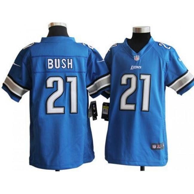 Detroit Lions #21 Reggie Bush Light Blue Team Color Youth Stitched NFL Elite Jersey