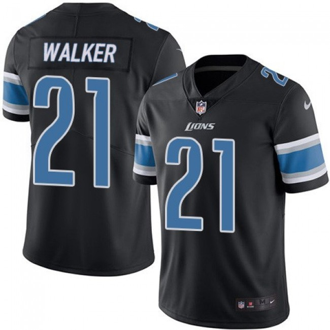 Nike Lions #21 Tracy Walker Black Men's Stitched NFL Limited Rush Jersey