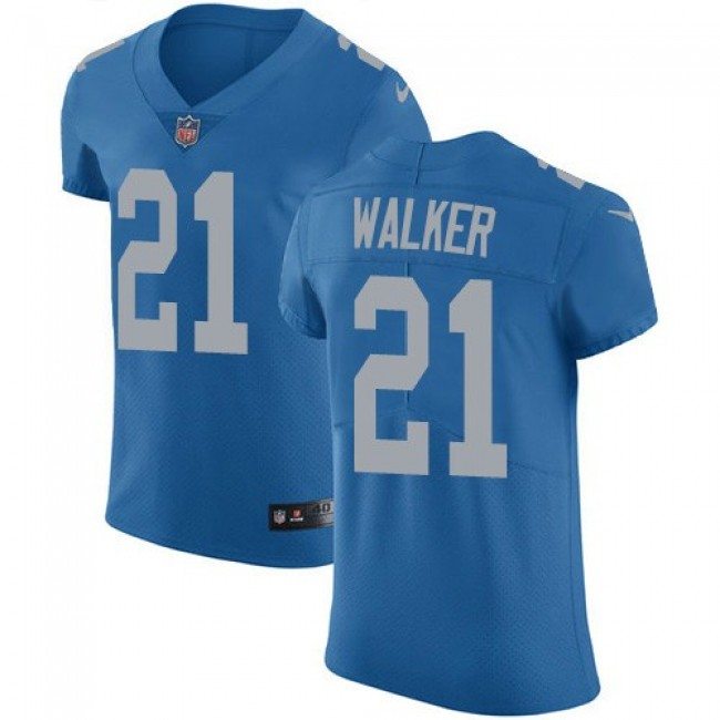 Nike Lions #21 Tracy Walker Blue Throwback Men's Stitched NFL Vapor Untouchable Elite Jersey