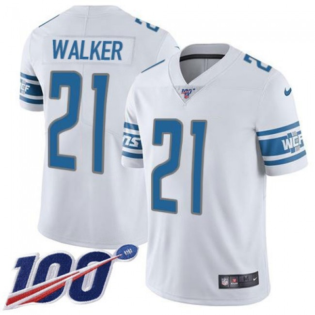 Nike Lions #21 Tracy Walker White Men's Stitched NFL 100th Season Vapor Untouchable Limited Jersey
