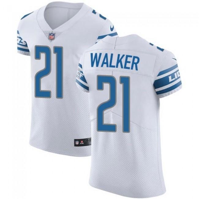 Nike Lions #21 Tracy Walker White Men's Stitched NFL Vapor Untouchable Elite Jersey