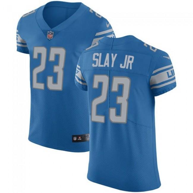 Nike Lions #23 Darius Slay Jr Blue Team Color Men's Stitched NFL Vapor Untouchable Elite Jersey