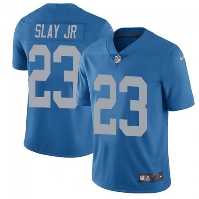 Nike Lions #23 Darius Slay Jr Blue Throwback Men's Stitched NFL Vapor Untouchable Limited Jersey