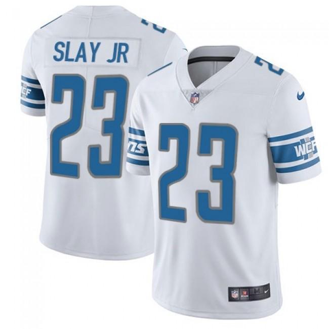 Nike Lions #23 Darius Slay Jr White Men's Stitched NFL Vapor Untouchable Limited Jersey