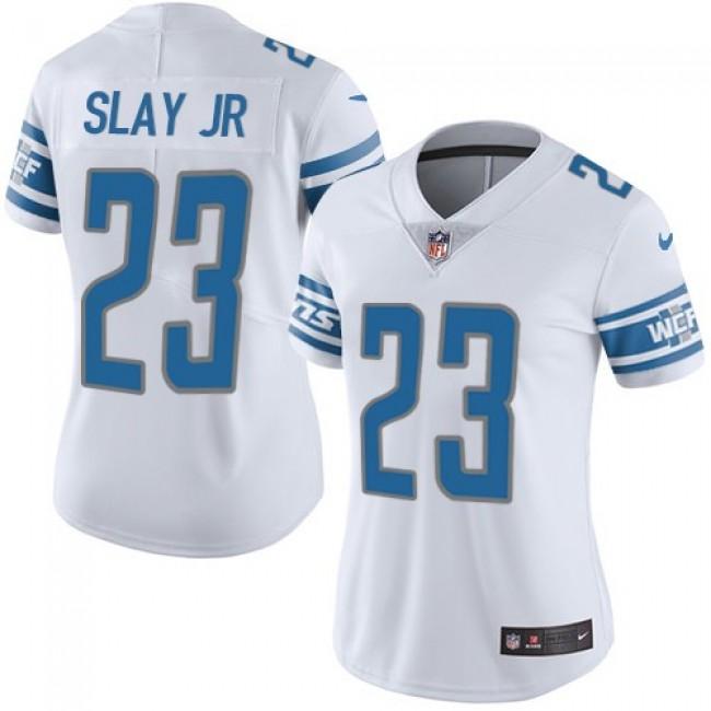 Women's Lions #23 Darius Slay Jr White Stitched NFL Vapor Untouchable Limited Jersey