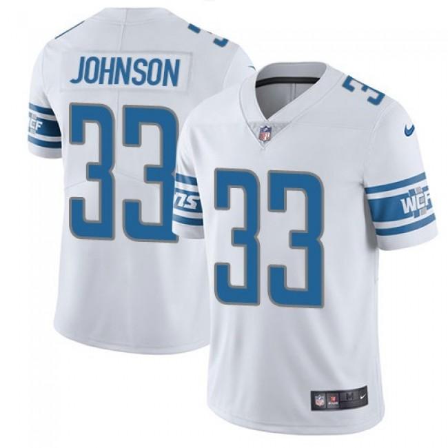 Nike Lions #33 Kerryon Johnson White Men's Stitched NFL Vapor Untouchable Limited Jersey