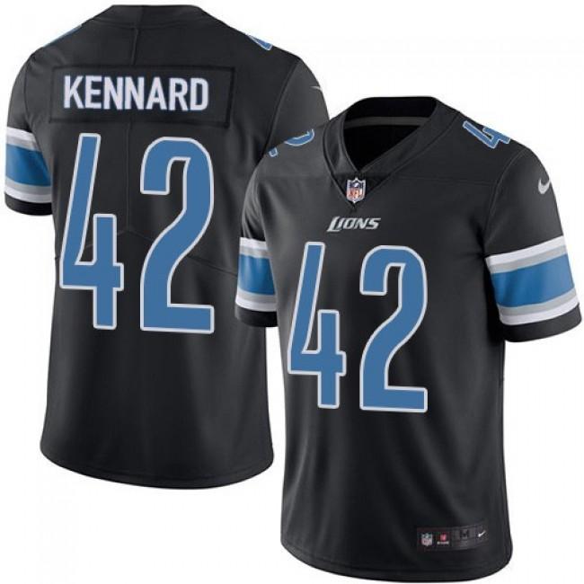 Nike Lions #42 Devon Kennard Black Men's Stitched NFL Limited Rush Jersey