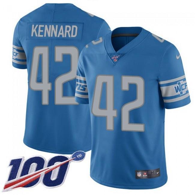 Nike Lions #42 Devon Kennard Blue Team Color Men's Stitched NFL 100th Season Vapor Untouchable Limited Jersey