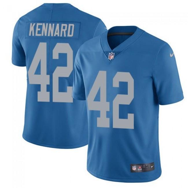 Nike Lions #42 Devon Kennard Blue Throwback Men's Stitched NFL Vapor Untouchable Limited Jersey