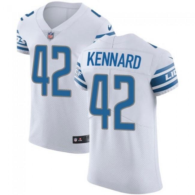 Nike Lions #42 Devon Kennard White Men's Stitched NFL Vapor Untouchable Elite Jersey