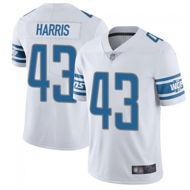 Nike Lions #43 Will Harris White Men's Stitched NFL Vapor Untouchable Limited Jersey