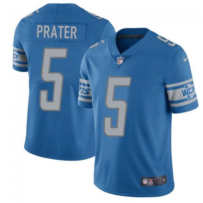 Nike Lions #5 Matt Prater Blue Team Color Men's Stitched NFL Vapor Untouchable Limited Jersey