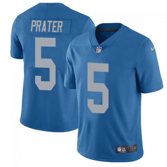 Detroit Lions #5 Matt Prater Blue Throwback Youth Stitched NFL Vapor Untouchable Limited Jersey