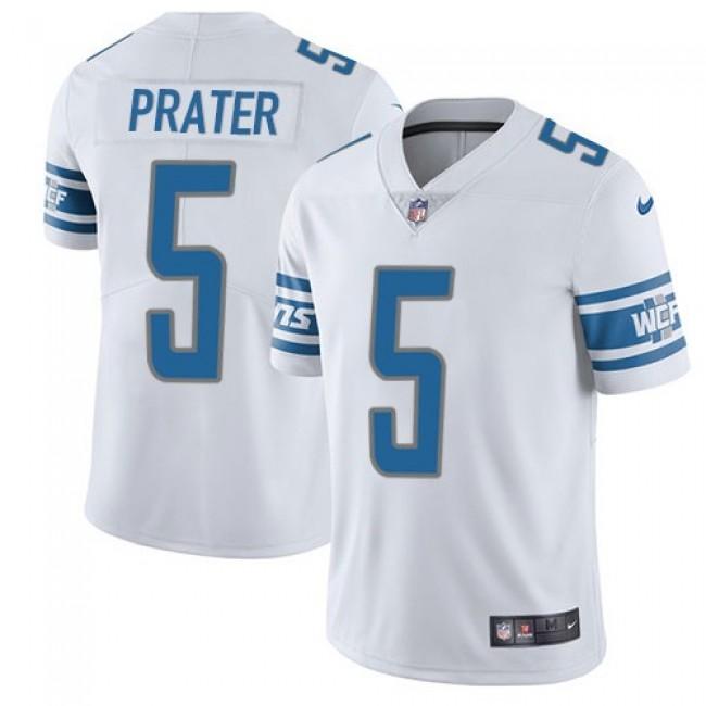 Detroit Lions #5 Matt Prater White Youth Stitched NFL Vapor Untouchable Limited Jersey