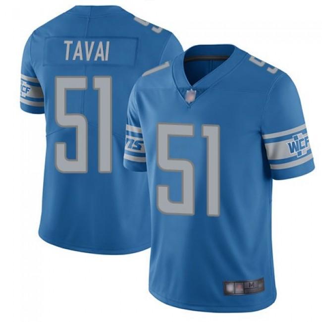 Nike Lions #51 Jahlani Tavai Blue Team Color Men's Stitched NFL Vapor Untouchable Limited Jersey