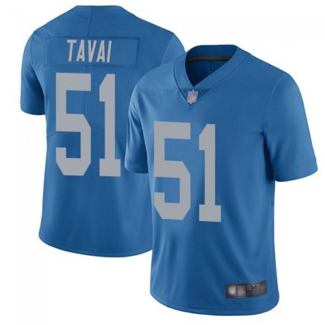 Nike Lions #51 Jahlani Tavai Blue Throwback Men's Stitched NFL Vapor Untouchable Limited Jersey