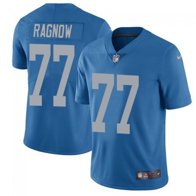 Nike Lions #77 Frank Ragnow Blue Throwback Men's Stitched NFL Vapor Untouchable Limited Jersey