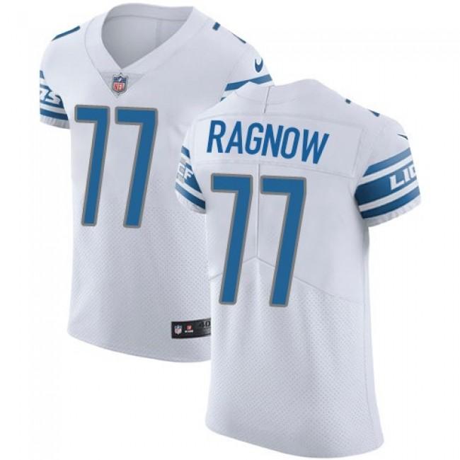 Nike Lions #77 Frank Ragnow White Men's Stitched NFL Vapor Untouchable Elite Jersey