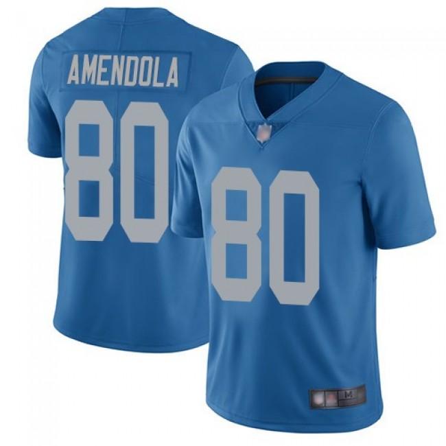 Nike Lions #80 Danny Amendola Blue Throwback Men's Stitched NFL Vapor Untouchable Limited Jersey
