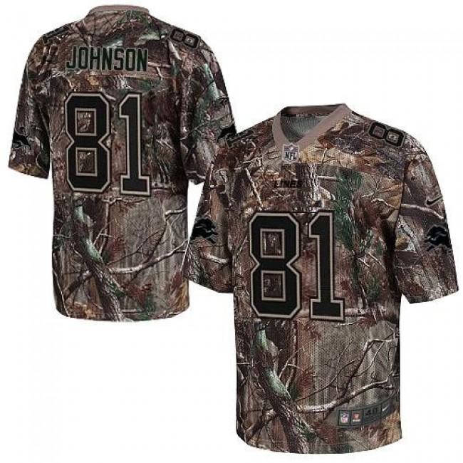 Nike Lions #81 Calvin Johnson Camo Men's Stitched NFL Realtree Elite Jersey