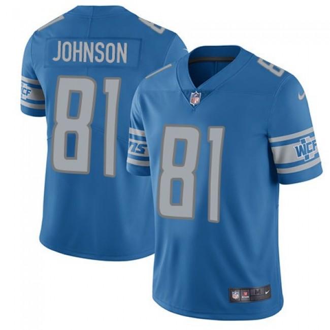 Detroit Lions #81 Calvin Johnson Light Blue Team Color Youth Stitched NFL Vapor Untouchable Limited Jersey