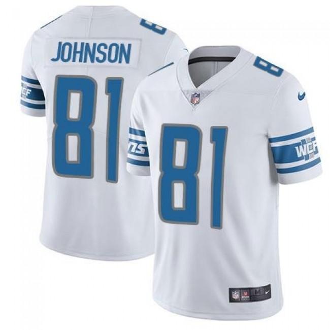 Nike Lions #81 Calvin Johnson White Men's Stitched NFL Vapor Untouchable Limited Jersey