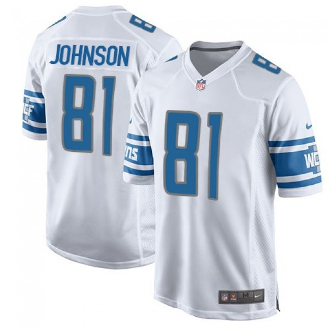 Detroit Lions #81 Calvin Johnson White Youth Stitched NFL Elite Jersey