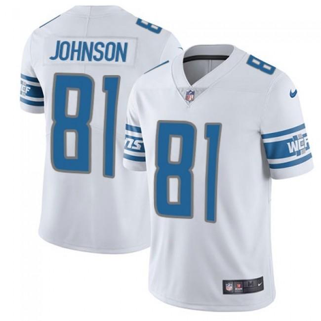 Detroit Lions #81 Calvin Johnson White Youth Stitched NFL Vapor Untouchable Limited Jersey