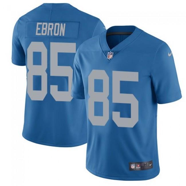 Detroit Lions #85 Eric Ebron Blue Throwback Youth Stitched NFL Vapor Untouchable Limited Jersey