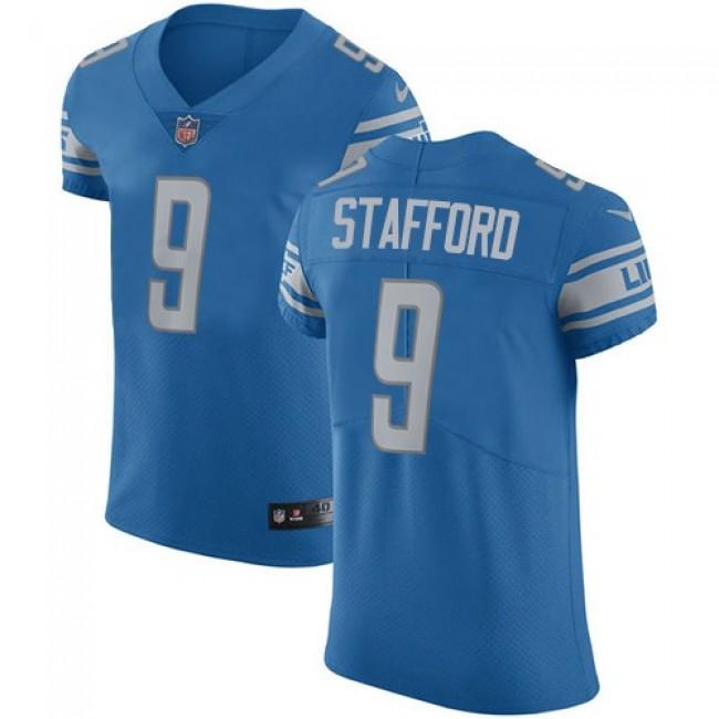 Nike Lions #9 Matthew Stafford Blue Team Color Men's Stitched NFL Vapor Untouchable Elite Jersey
