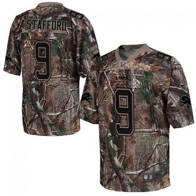 Nike Lions #9 Matthew Stafford Camo Men's Stitched NFL Realtree Elite Jersey