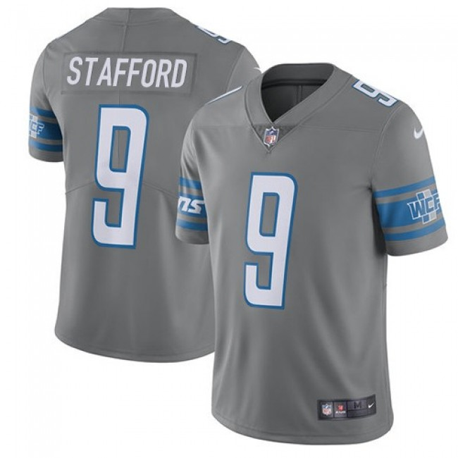 Nike Lions #9 Matthew Stafford Gray Men's Stitched NFL Limited Rush Jersey