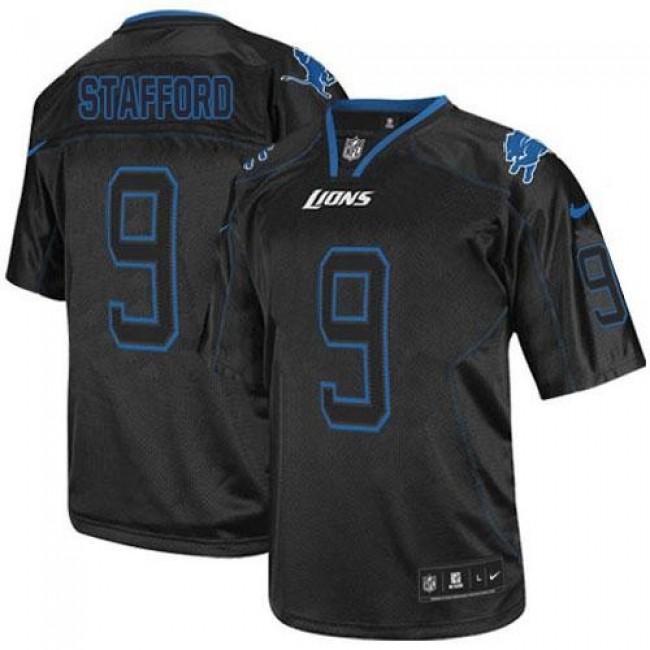 Nike Lions #9 Matthew Stafford Lights Out Black Men's Stitched NFL Elite Jersey